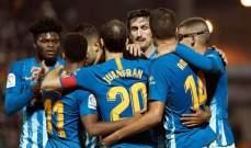 فوز بشق الانفس لاتلتيكو مدريد في ذهاب دور الـ32 بكأس ملك إسبانيا