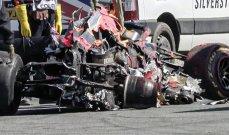 محرك فرستابن ينجو من حادثه مع هاميلتون