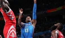 NBA: اوكلاهوما يسجل الفوز السابع على التوالي وبوسطن يعود الى الانتصارات