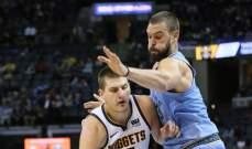 NBA: دنفر يقلص الفارق مع الواريرز وميلووكي يهدد صدارة تورنتو