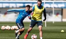 تدريبات ريال مدريد تشهد عودة نجمي الفريق