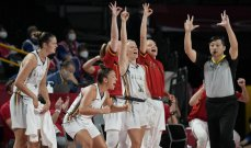 سيدات بلجيكا لكرة السلة بالعلامة الكاملة بعد الفوز على بورتوريكو في طوكيو 2020