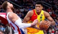 NBA: ميلووكي يعزز وصفاته شرقياً والروكتس يفوز على يوتا جاز