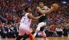 NBA: رابتورز يهزم باكس ويتقدم 3-2 في السلسلة