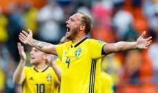 مدافع السويد : حققنا تطوراً كبيراً رغم غياب واحد من أفضل اللاعبين