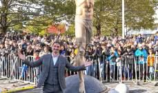 تمثال إبراهيموفيتش يتعرض للتخريب