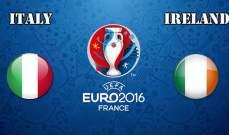 فوز ايرلندا على ايطاليا يكشف غياب العمق للايطاليين