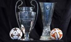 تعليق جميع مباريات دوري الأبطال والدوري الأوروبي