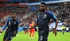 اومتيتي ينال جائزة افضل لاعب في مباراة فرنسا وبلجيكا