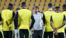 مدرب الاتحاد يعتمد قائمة الفريق الآسيوية النهائية
