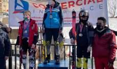النتائج الكاملة لبطولة لبنان  في التزلج الألبي للأولاد