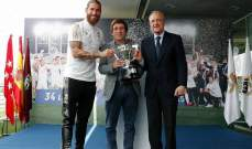 عمدة مدريد يحيي اللاعبين عقب لقب الليغا