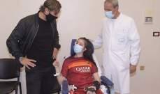 لفتة إنسانية مميزة من توتي تجاه لاعبة لاتسيو بعد استفاقتها من غيبوبة طويلة