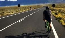 جورج راسل على الدراجة الهوائية في الكناري