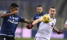 الكالتشيو: تورينو يفرض التعادل على اتالانتا في مباراة مثيرة وفوز سبيزيا على ساسولو