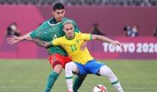 البرازيل تتخطى المكسيك الى نهائي كرة قدم طوكيو 2020