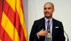 غوارديولا: هناك الكثير من التفاؤل داخل برشلونة وفي إقليم كتالونيا
