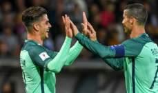 رونالدو يشيد بزميله البرتغالي سيلفا
