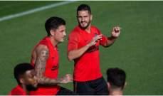 ليمار اساسي مع اتلتيكو مدريد امام ليغانيس مع استمرار غياب كوستا