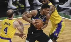 NBA: باكس يتفوق على ليكرز