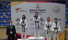 بطولة بيروت المفتوحة بالتايكواندو :برونزيتان للبنان وحصيلة بلد الأرز 18 ميدالية