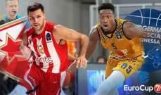 بطولة يوروكاب لكرة السلة: فوز كبير للنجم الأحمر وانتصارات للفرق الروسية