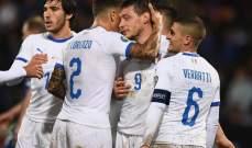 علامات لاعبي مباراة ايطاليا - ليشتشتاين