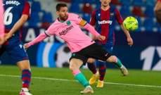 ليفانتي يُبعد برشلونة عن لقب الليغا ويسرق منه نقطة ثمينة