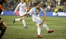 الدوري الاميركي لكرة القدم : ساوندرز يحقّق فوزاً كبيراً على دينامو