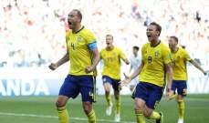 السويد تنتصر على كوريا بهدف وتتصدر المجموعة مع المكسيك