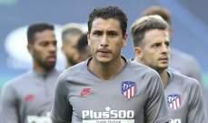 خيمينيز يغيب عن اتلتيكو مدريد اسبوعين
