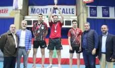 كأس لبنان في كرة الطاولة : لقب الرجال لـ حكيم والسيدات لـ سهاكيان
