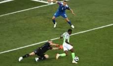 ابرز احصاءات مباراة نيجيريا أمام ايسلندا