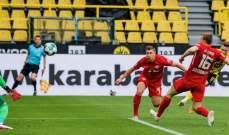 دورتموند يهدي البايرن لقب الدوري بفوزه امام لايبزيغ وفولفسبورغ يعزز مركزه الثالث