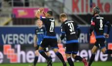 الدوري الألماني: فوز صعب لبادربورن على فرانكفورت