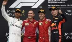 فيديو : تلخيص سباق بلجيكا في الفورمولا 1