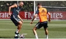 بنزيما يشارك في تدريبات ريال مدريد