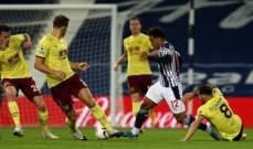 الدوري الانكليزي: مباراة باهتة بين وست بروميتش وبيرنلي تنتهي من دون اهداف