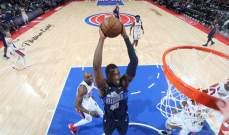 NBA : ديترويت بيستونز يفوز على دالاس مافريكس
