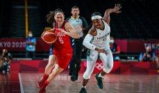 طوكيو 2020: سيدات اميركا لكرة السلة يتشاركن صدارة المجموعة الثانية مع اليابان