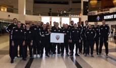 بعثة نادي بيروت غادرت الى الامارات  للمشاركة في دورة دبي بكرة السلة