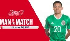 خافيير أكوينو أفضل لاعب في مباراة مكسيك ونيوزيلندا