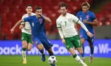 اصابة لاعب منتخب ايرلندا بـ كورونا بعد مباراة انكلترا