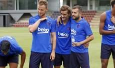 تدريبات برشلونة تشهد غياب رافينيا وعودة ميسي