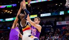 NBA: ثاندر يسقط على أرضه امام وريورز