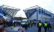 الشرطة تعتقل مشجعًا على خلفية احداث مباراة ميلوال وايفرتون