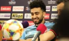 احمد ياسر: اظهرنا مستوى جيد في مباراة الشارقة