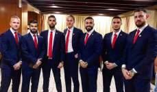 أبطال لبنان بكامل أناقتهم إلى الامارات للمشاركة بكأس آسيا