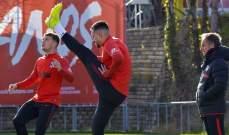 اتلتيكو مدريد يستعد لمواجهة باير ليفركوزن