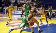 سلة لبنان: سعود وزينون ومنصور افضل لاعبي الرياضي امام الحكمة